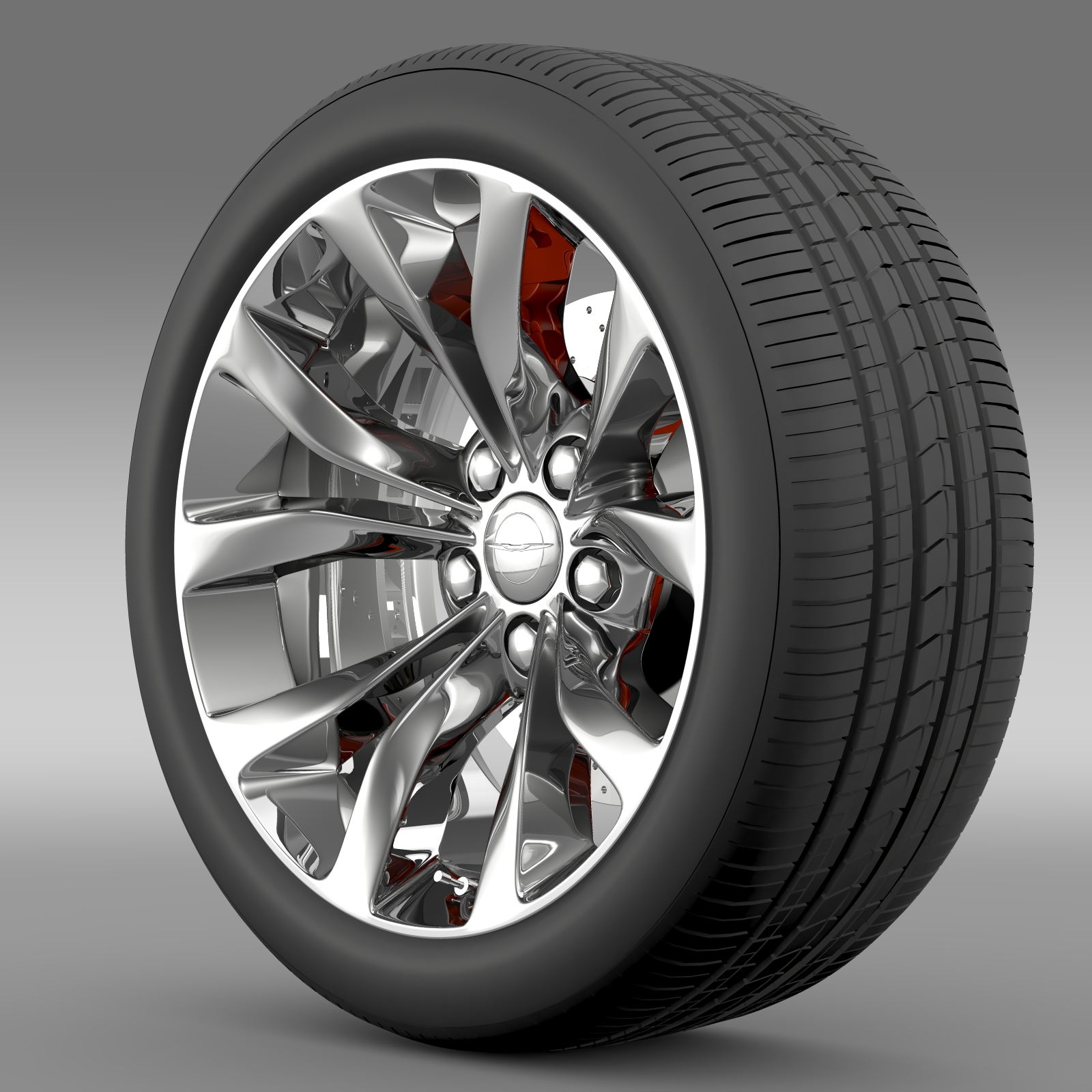 chrysler 300 limited 2015 wheel 3d model 3ds max fbx c4d lwo ma mb hrc xsi obj 212744