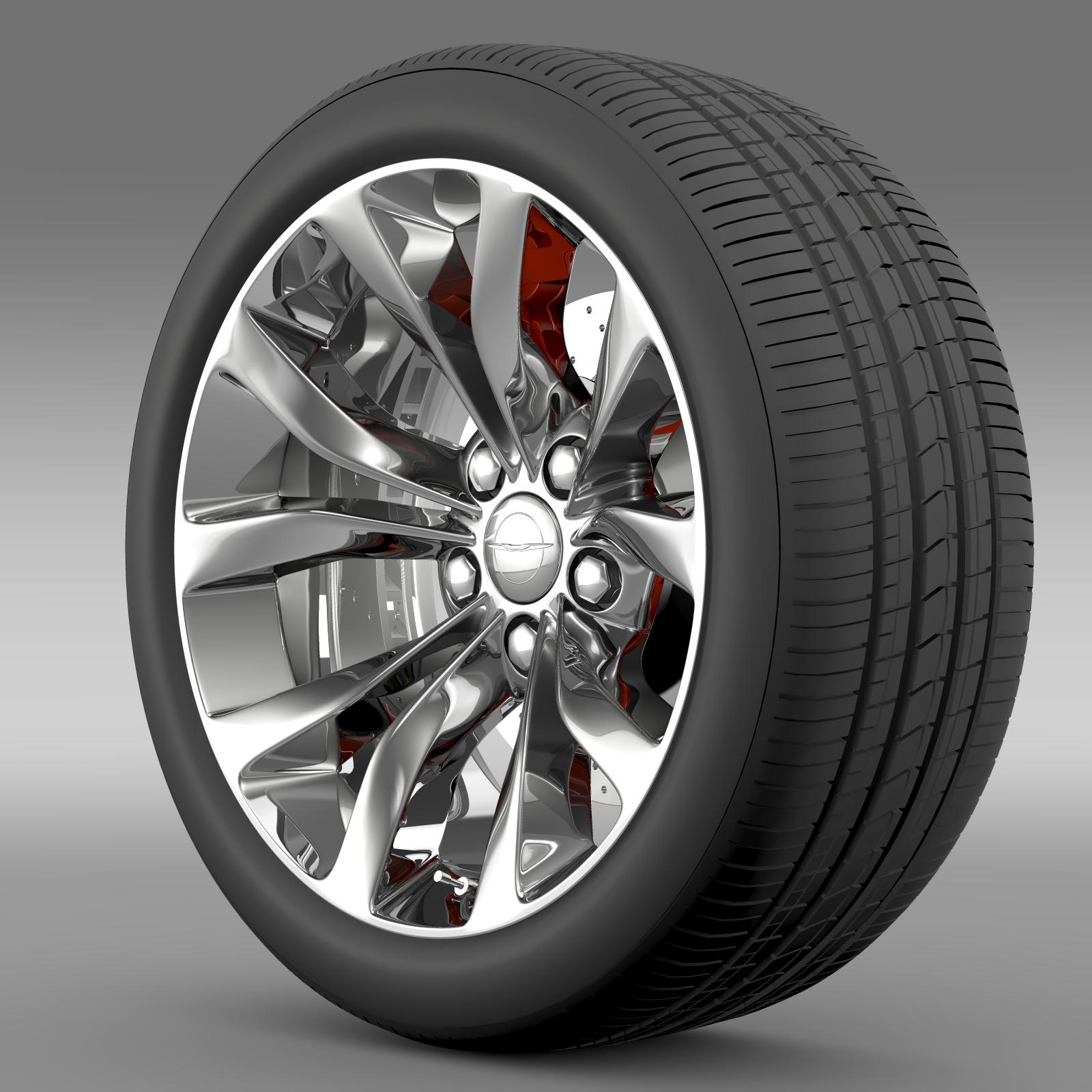 Chrysler 300 Limited 2015 wheel 3d model 3ds max fbx c4d lwo lws lw ma mb  obj 212744