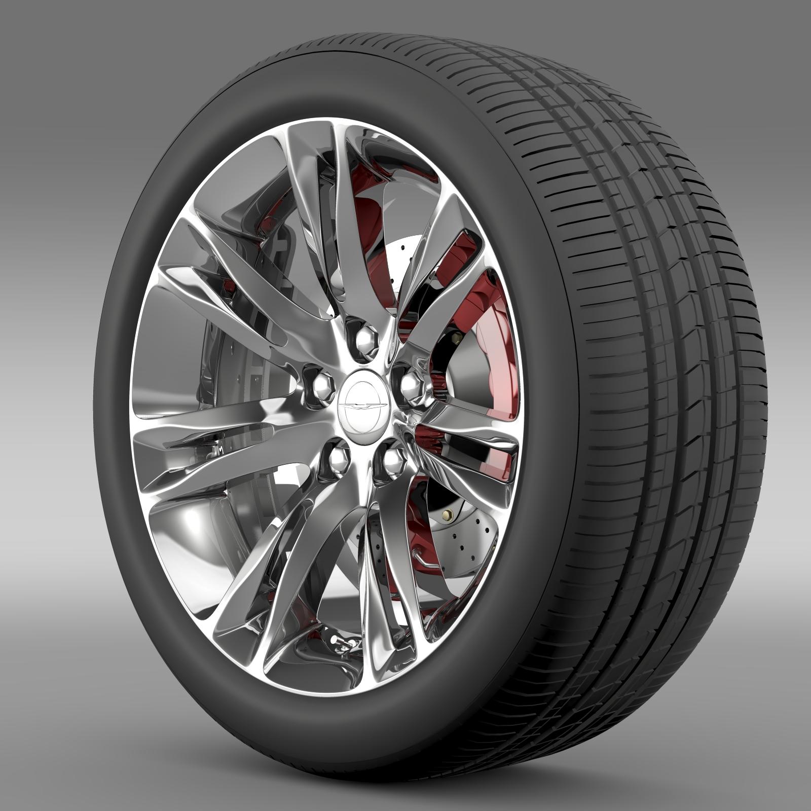 Chrysler 300C 2015 wheel 3d model 3ds max fbx c4d lwo lws lw ma mb  obj 212760
