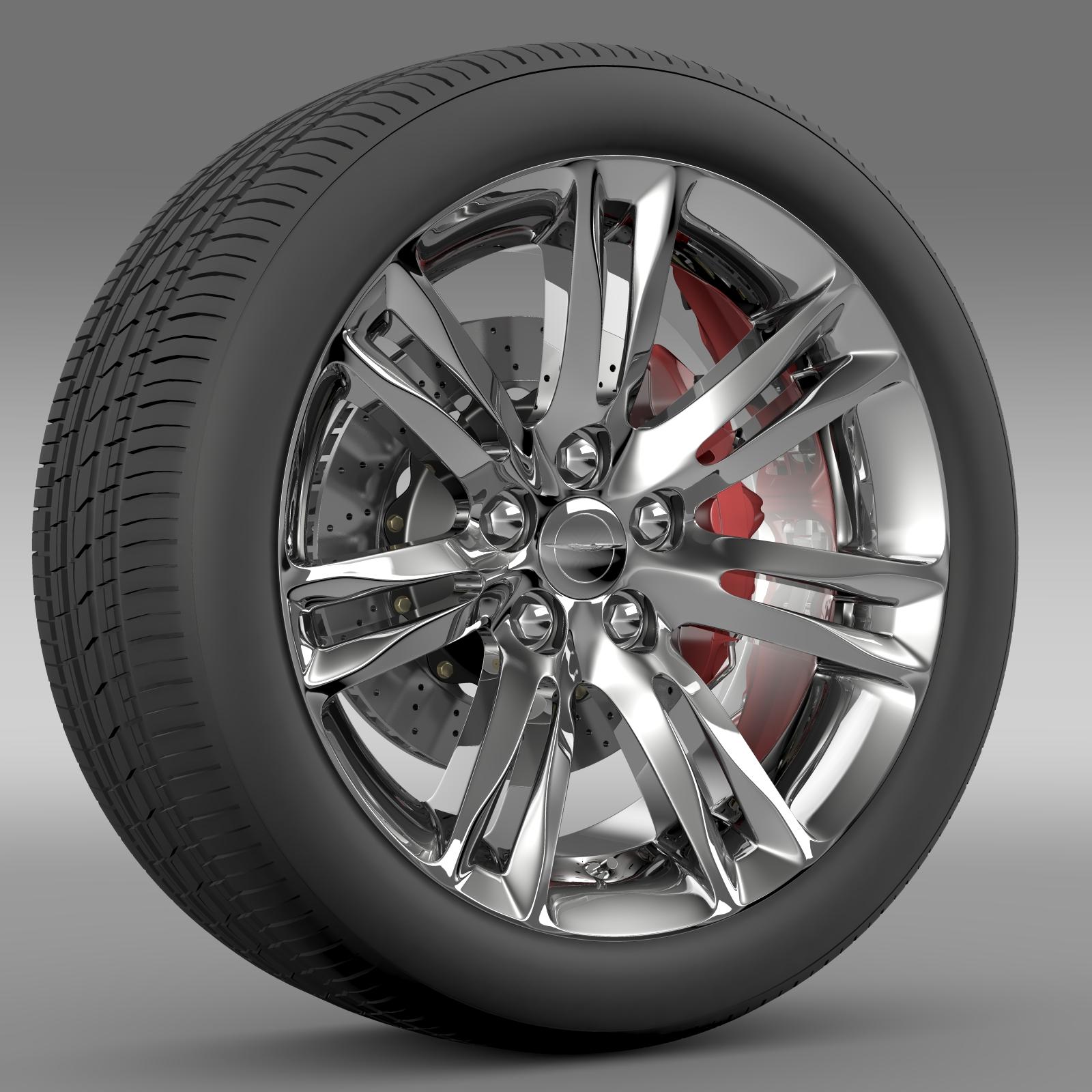 chrysler 300c 2015 wheel 3d model 3ds max fbx c4d lwo ma mb hrc xsi obj 212762