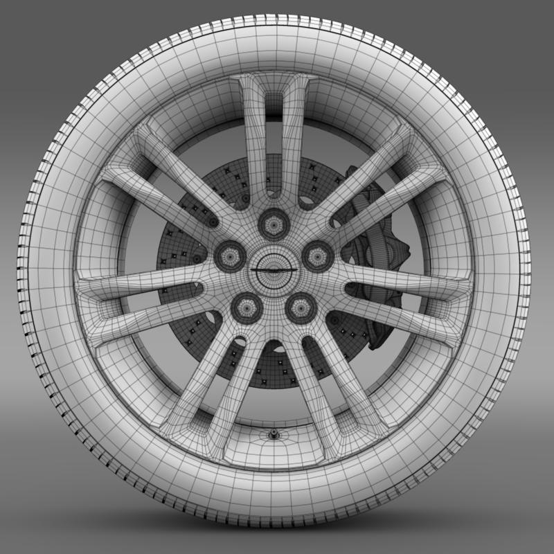 chrysler 300c 2015 wheel 3d model 3ds max fbx c4d lwo ma mb hrc xsi obj 212769