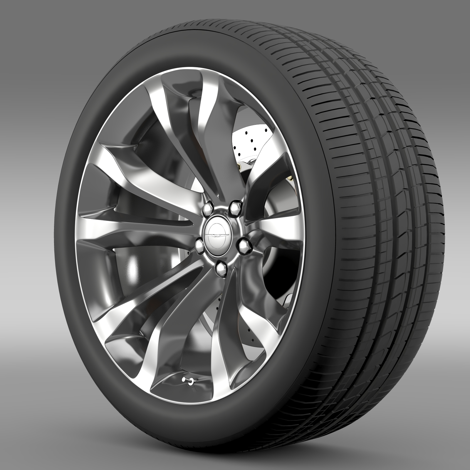 chrysler 300c platinum 2015 wheel 3d model 3ds max fbx c4d lwo ma mb hrc xsi obj 212776