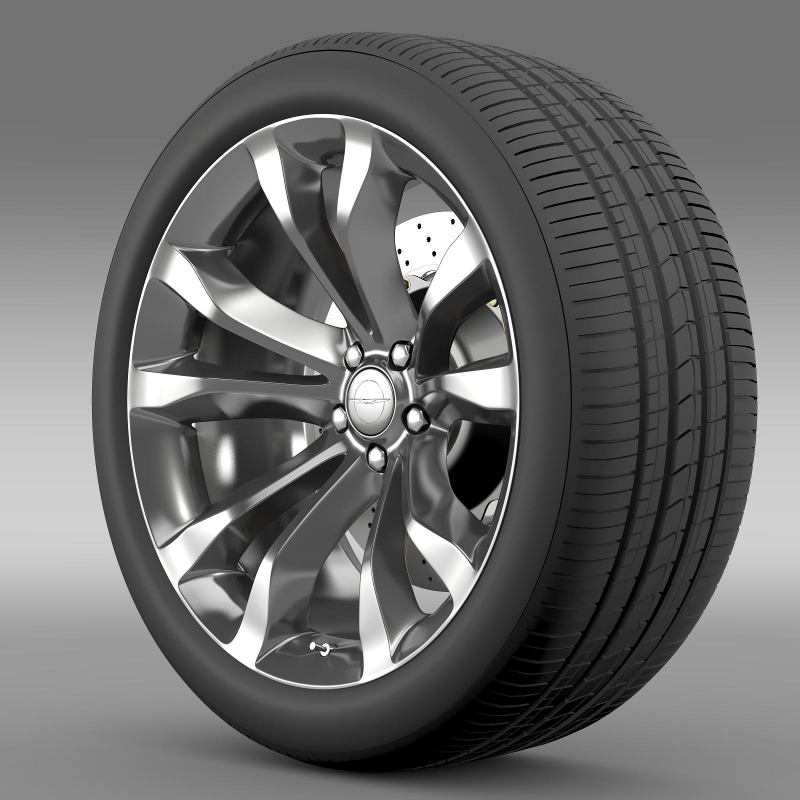 Chrysler 300C Platinum 2015 wheel 3d model 3ds max fbx c4d lwo lws lw ma mb  obj 212776