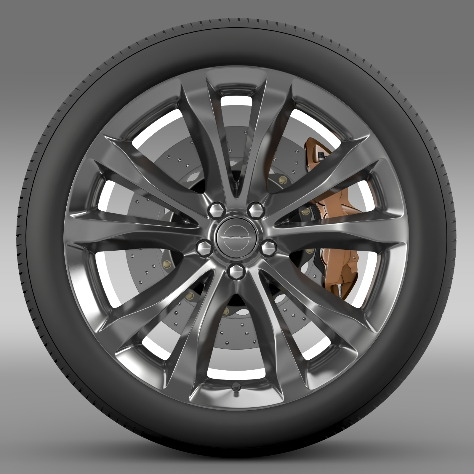 chrysler 300c platinum 2015 wheel 3d model 3ds max fbx c4d lwo ma mb hrc xsi obj 212777