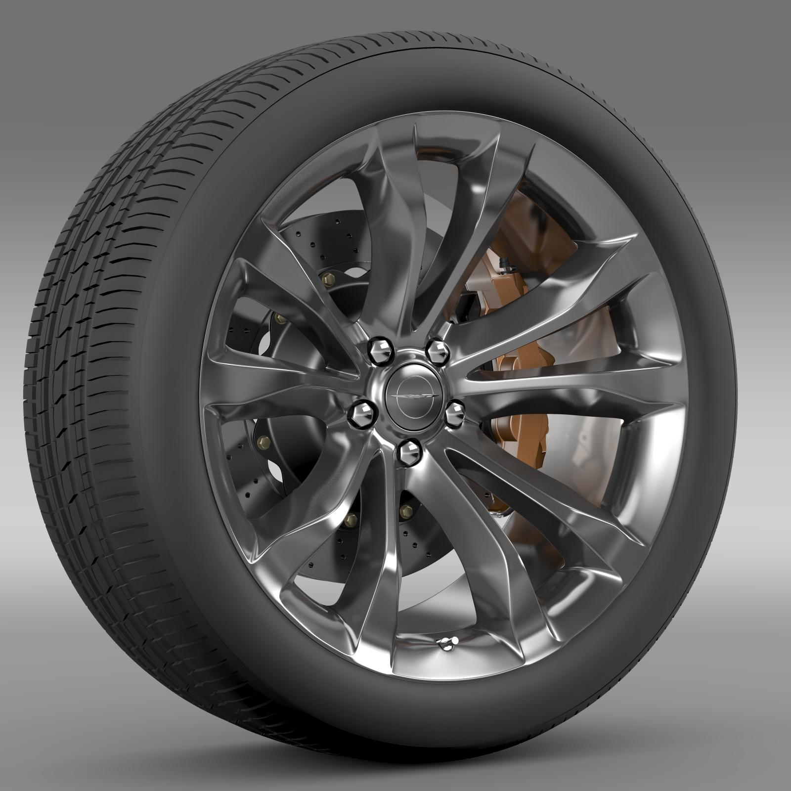 chrysler 300c platinum 2015 wheel 3d model 3ds max fbx c4d lwo ma mb hrc xsi obj 212778