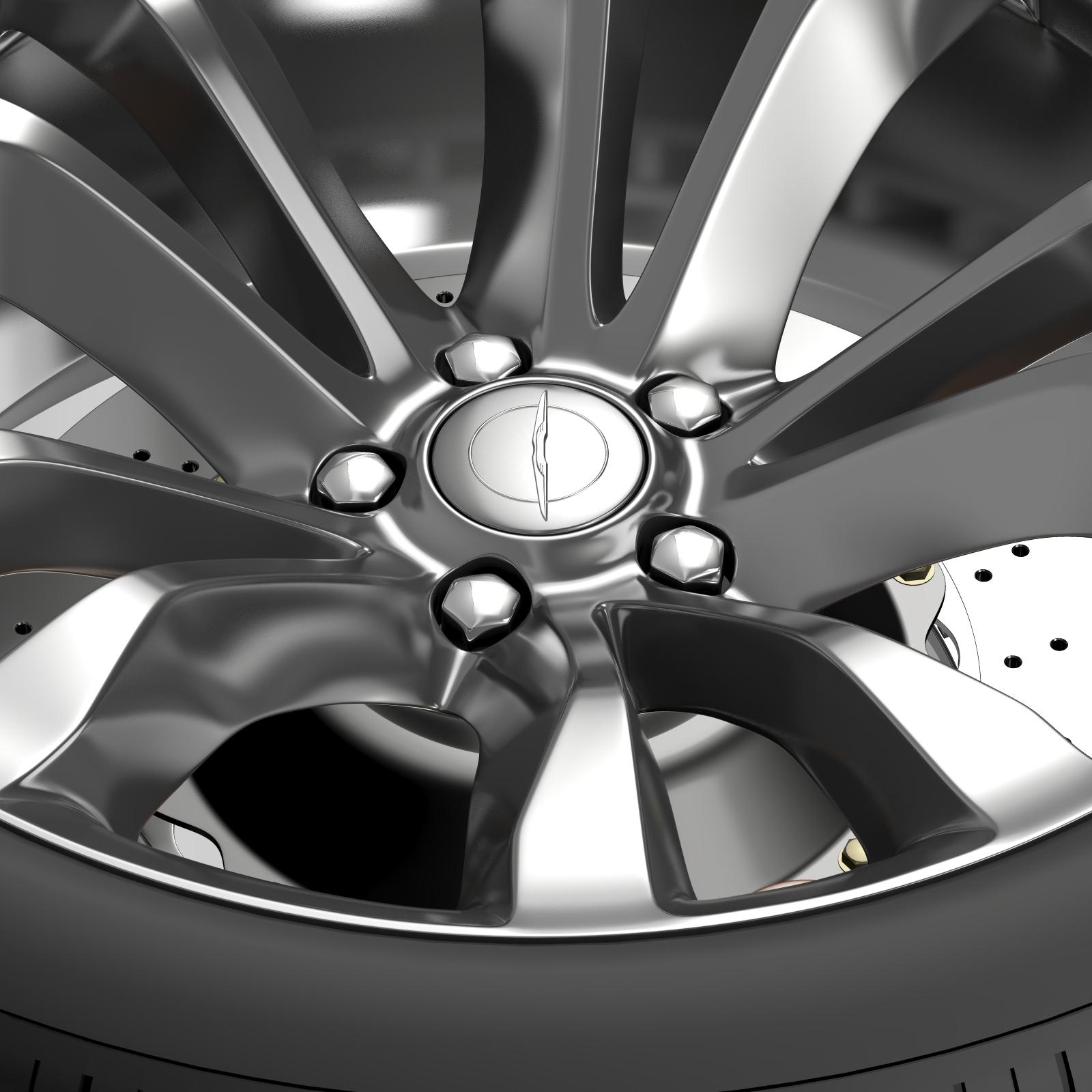 chrysler 300c platinum 2015 wheel 3d model 3ds max fbx c4d lwo ma mb hrc xsi obj 212779