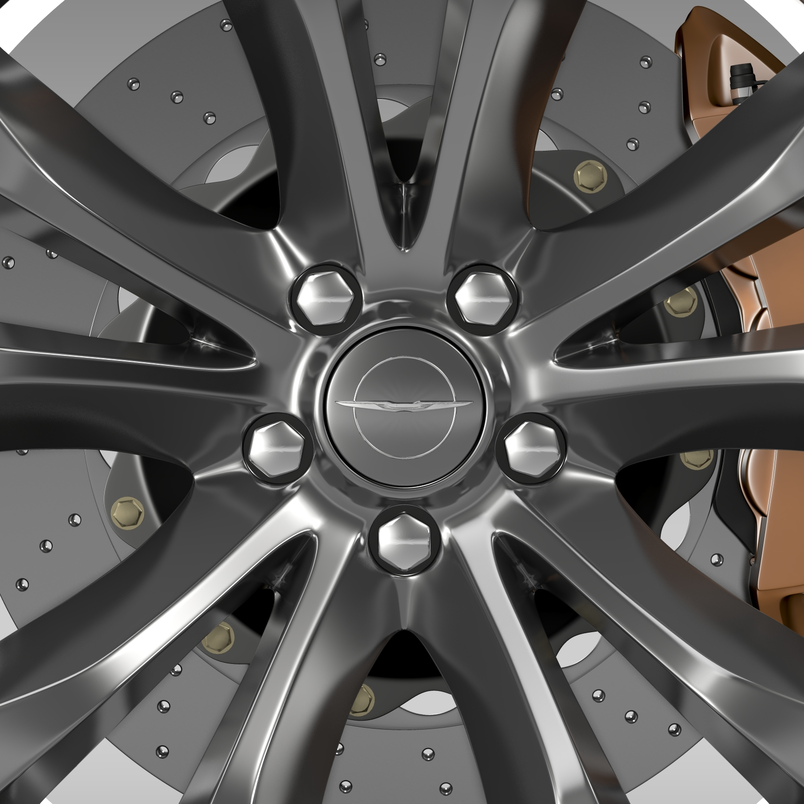 chrysler 300c platinum 2015 wheel 3d model 3ds max fbx c4d lwo ma mb hrc xsi obj 212780