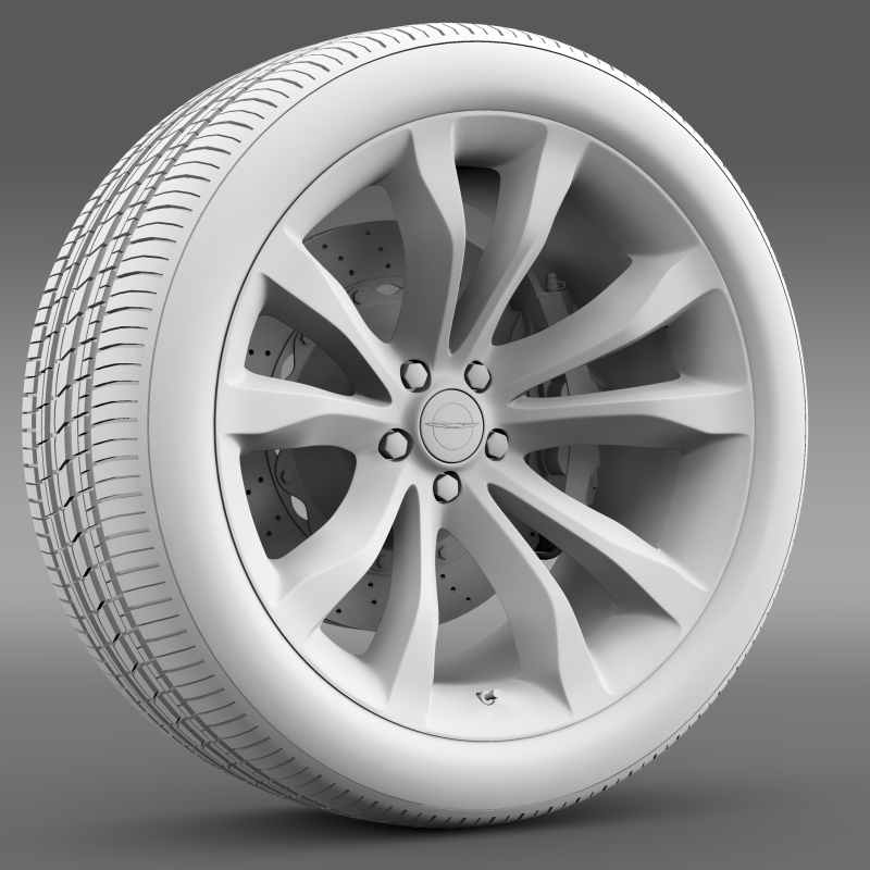 chrysler 300c platinum 2015 wheel 3d model 3ds max fbx c4d lwo ma mb hrc xsi obj 212782