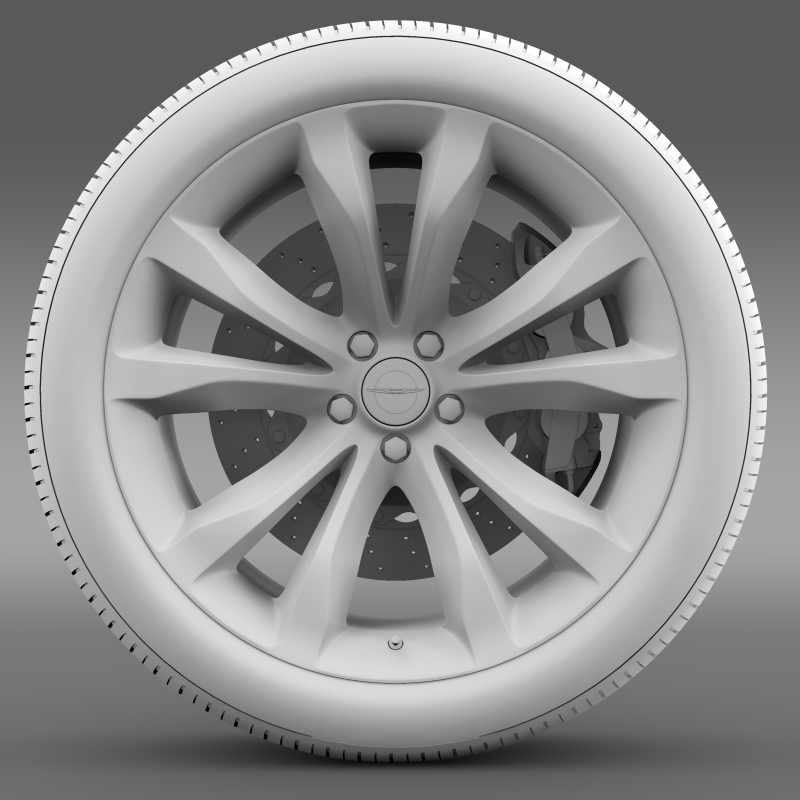 chrysler 300c platinum 2015 wheel 3d model 3ds max fbx c4d lwo ma mb hrc xsi obj 212783
