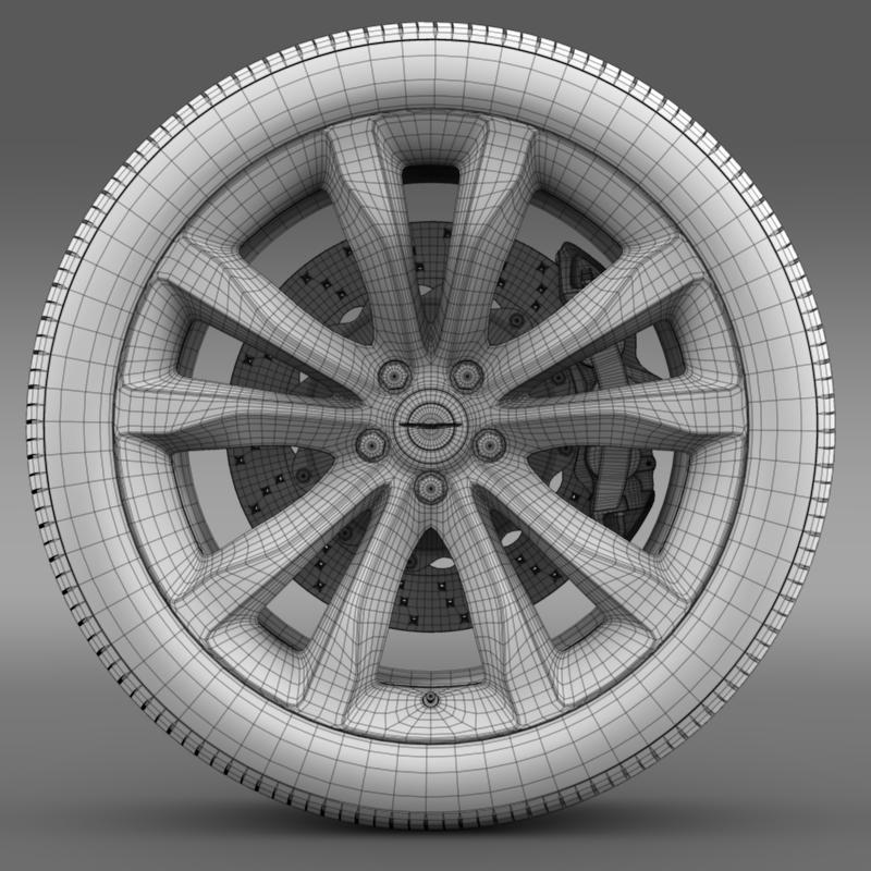 chrysler 300c platinum 2015 wheel 3d model 3ds max fbx c4d lwo ma mb hrc xsi obj 212785