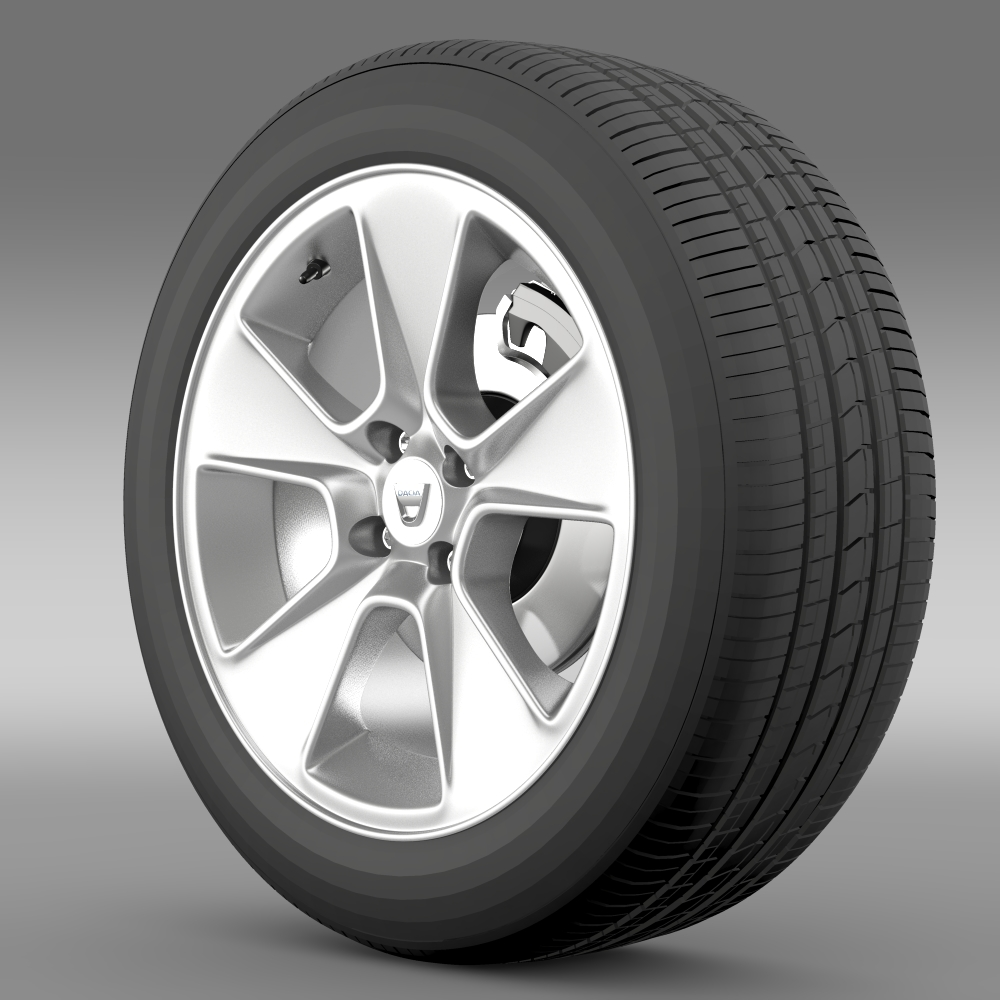 dacia logan wheel 3d model 3ds max fbx c4d lwo ma mb hrc xsi obj 212792