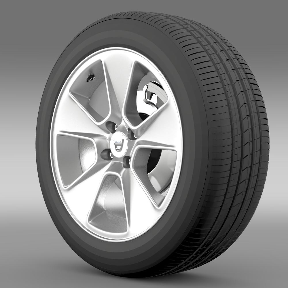 Dacia Logan wheel 3d model 3ds max fbx c4d lwo lws lw ma mb  obj 212792