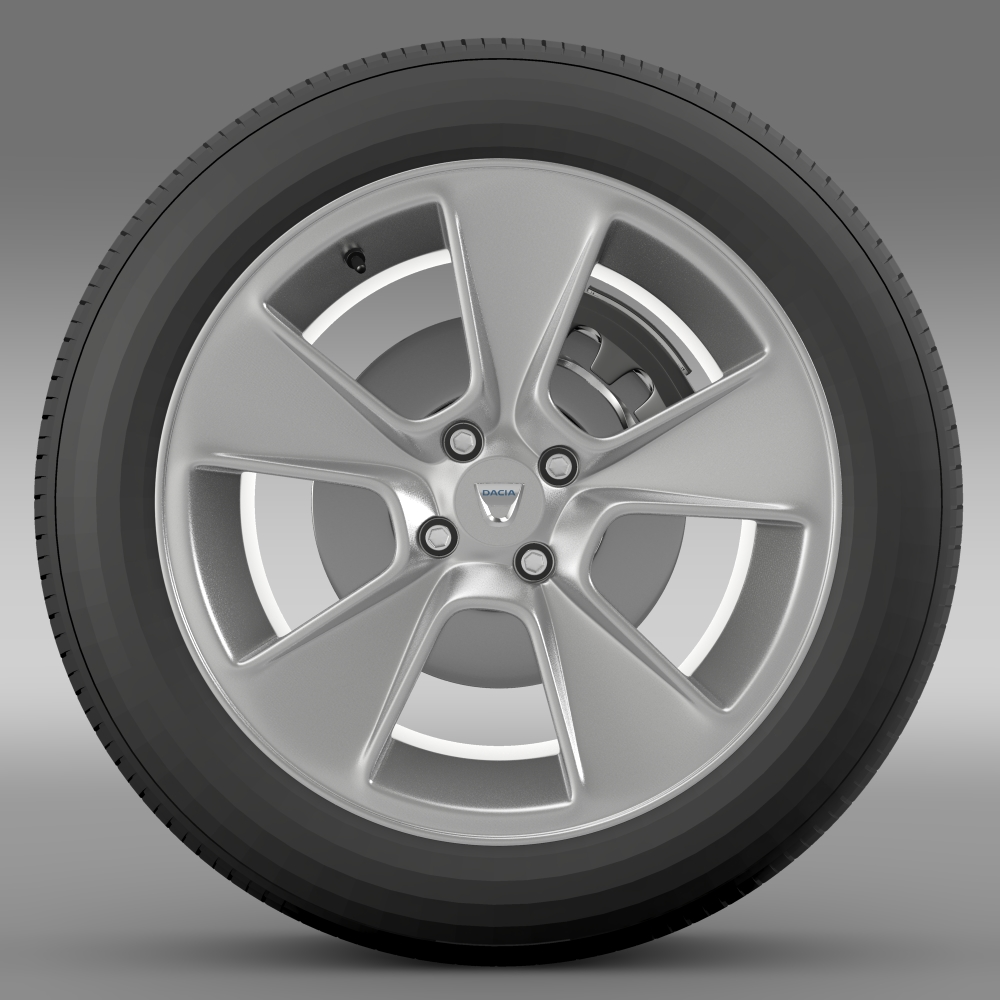 dacia logan wheel 3d model 3ds max fbx c4d lwo ma mb hrc xsi obj 212793