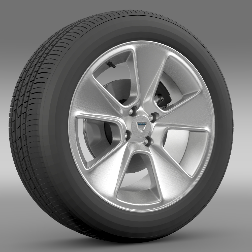 dacia logan wheel 3d model 3ds max fbx c4d lwo ma mb hrc xsi obj 212794