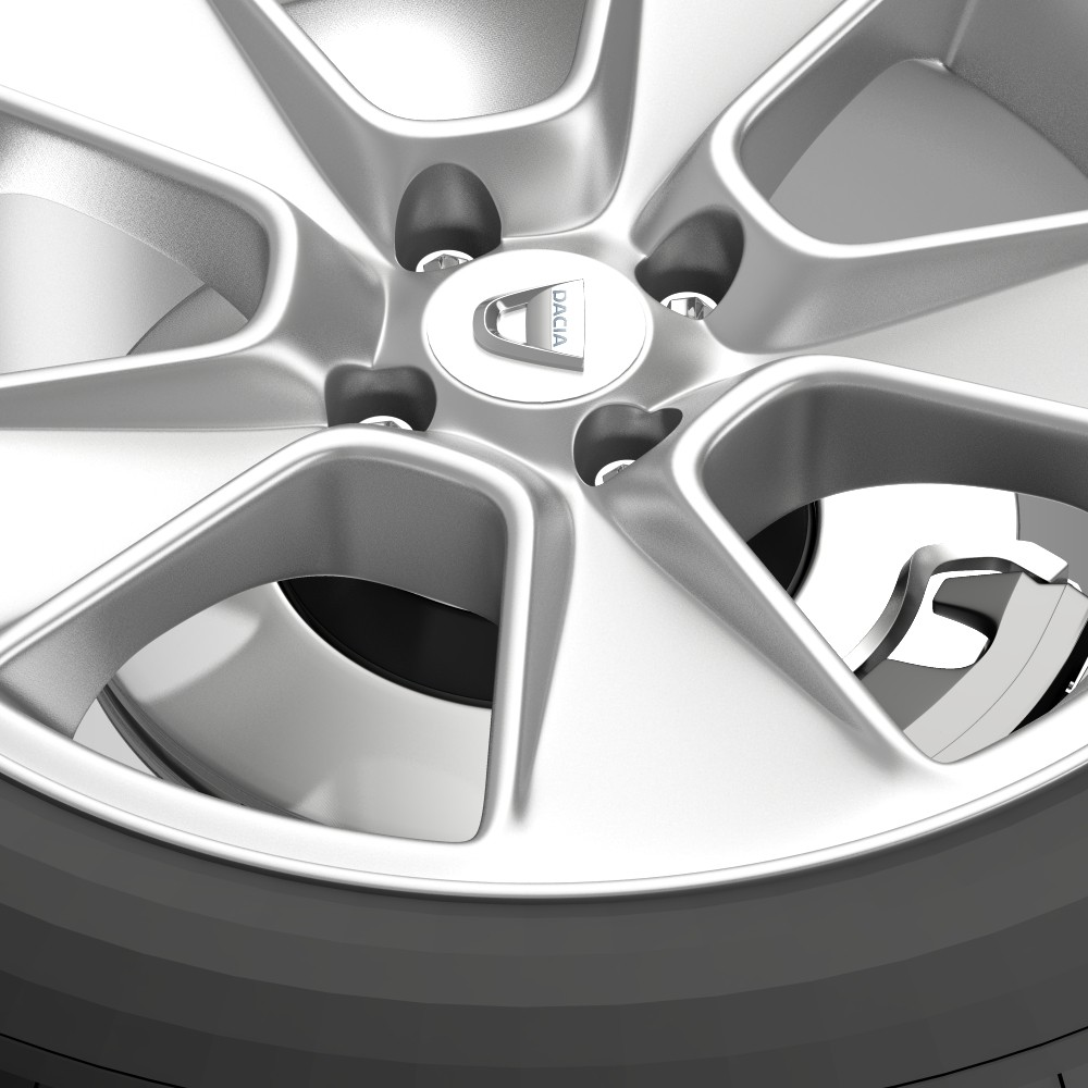 dacia logan wheel 3d model 3ds max fbx c4d lwo ma mb hrc xsi obj 212795