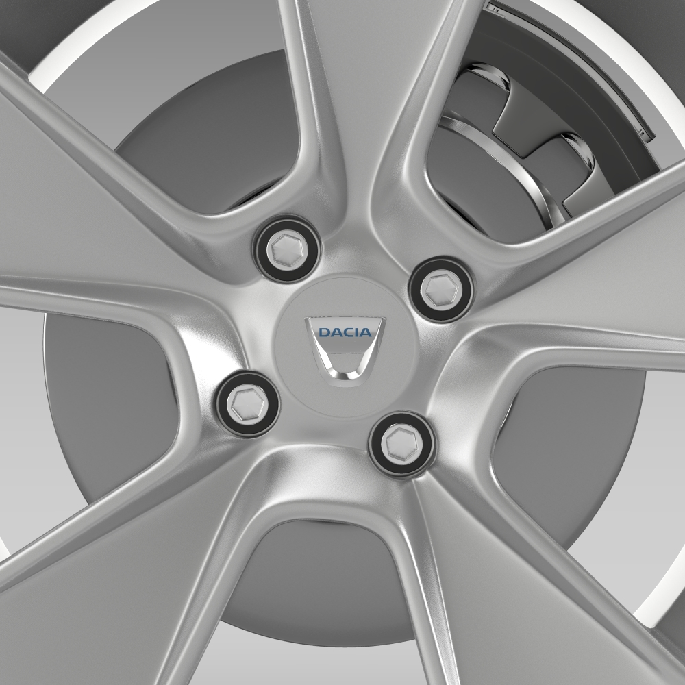 dacia logan wheel 3d model 3ds max fbx c4d lwo ma mb hrc xsi obj 212796