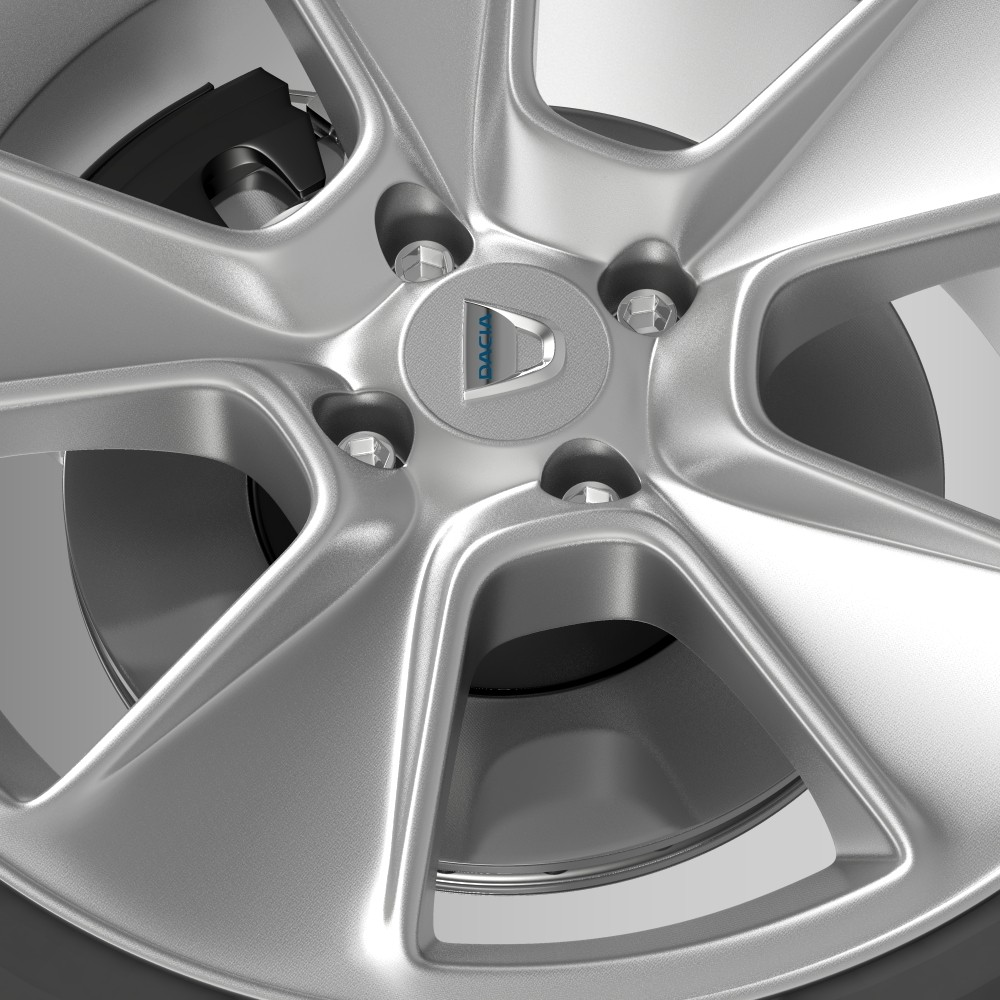 dacia logan wheel 3d model 3ds max fbx c4d lwo ma mb hrc xsi obj 212797
