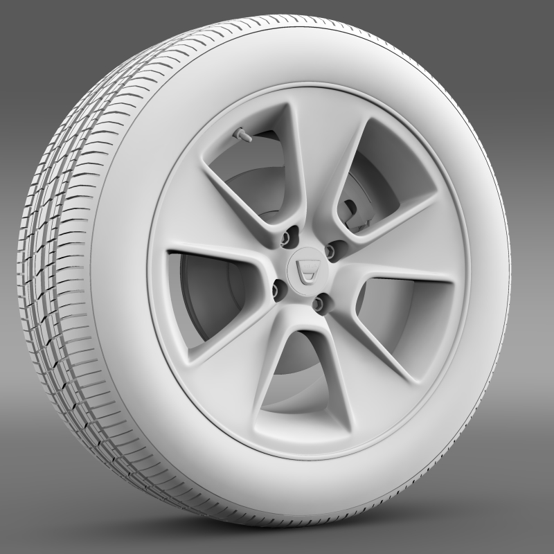dacia logan wheel 3d model 3ds max fbx c4d lwo ma mb hrc xsi obj 212798