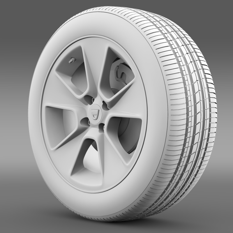dacia logan wheel 3d model 3ds max fbx c4d lwo ma mb hrc xsi obj 212800