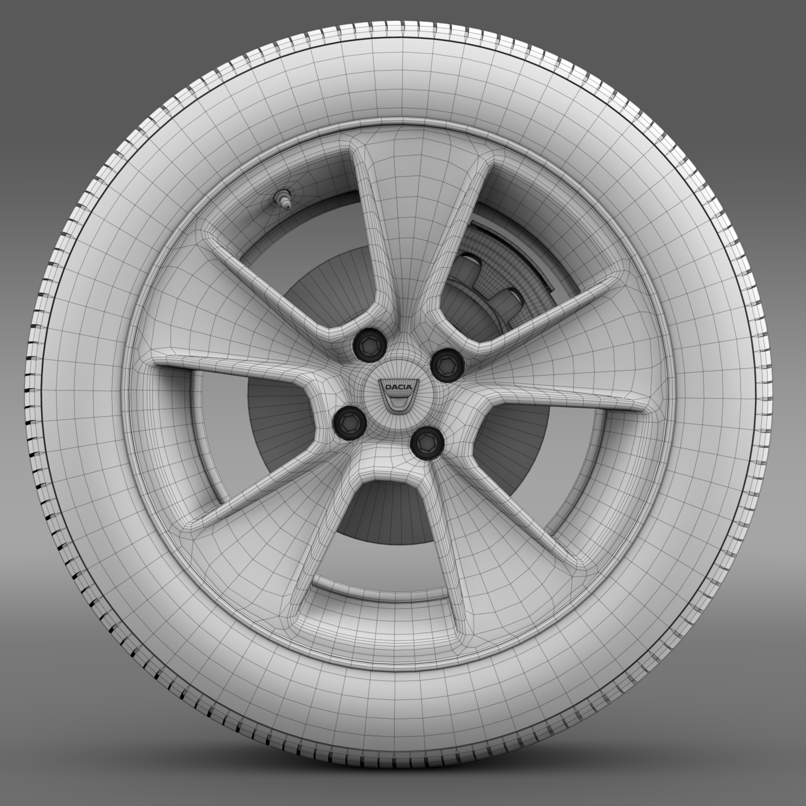 dacia logan wheel 3d model 3ds max fbx c4d lwo ma mb hrc xsi obj 212801