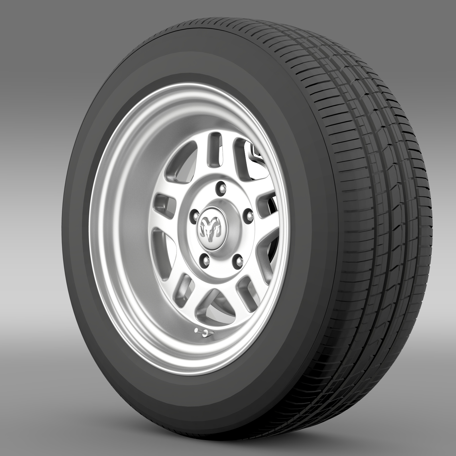 dodge challenger mopar wheel 3d model 3ds max fbx c4d lwo ma mb hrc xsi obj 212807