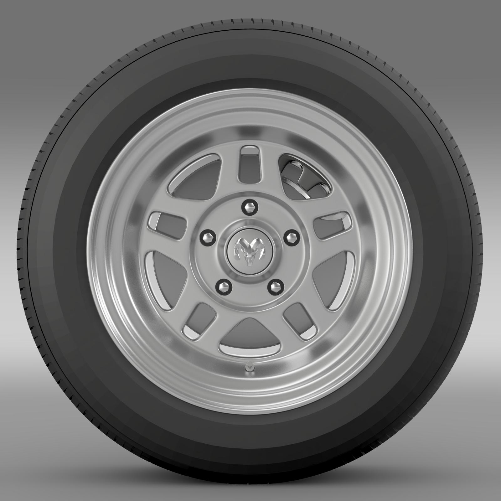 dodge challenger mopar wheel 3d model 3ds max fbx c4d lwo ma mb hrc xsi obj 212808