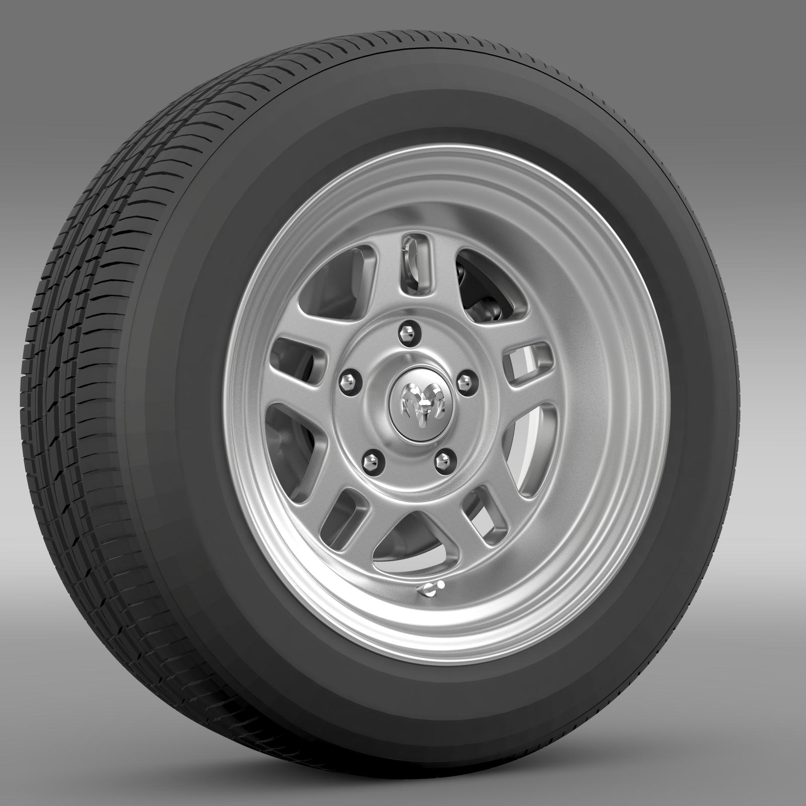 dodge challenger mopar wheel 3d model 3ds max fbx c4d lwo ma mb hrc xsi obj 212809