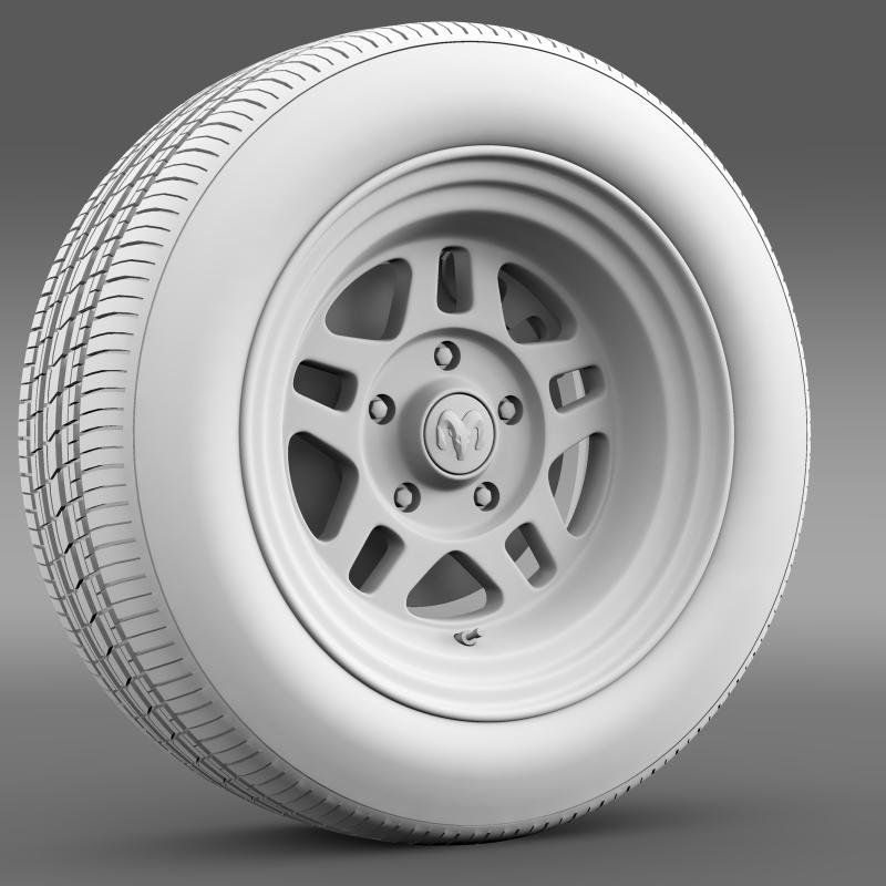 dodge challenger mopar wheel 3d model 3ds max fbx c4d lwo ma mb hrc xsi obj 212812
