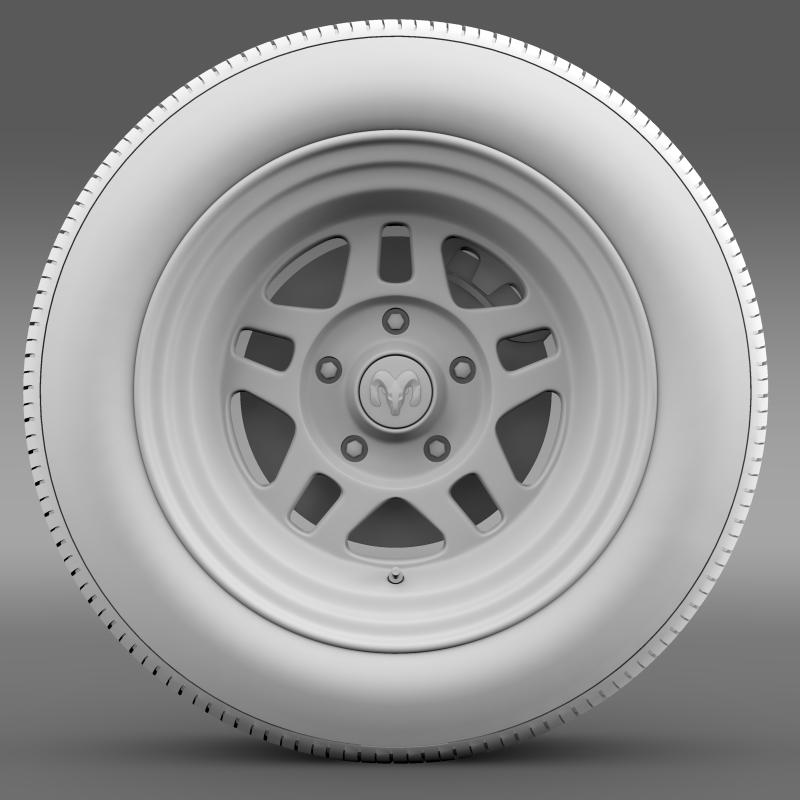 dodge challenger mopar wheel 3d model 3ds max fbx c4d lwo ma mb hrc xsi obj 212813