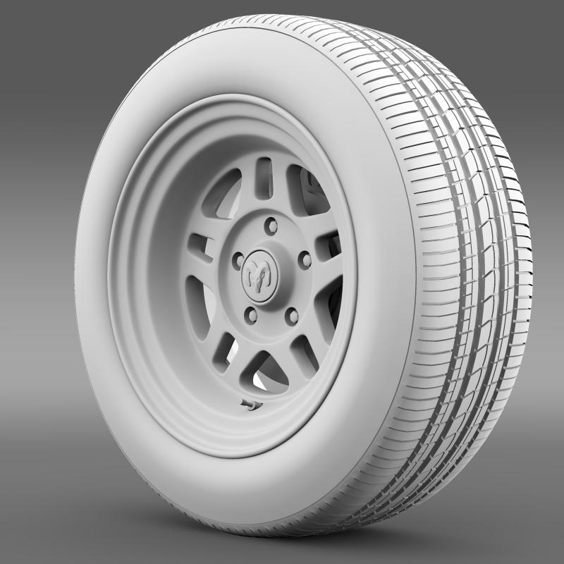 dodge challenger mopar wheel 3d model 3ds max fbx c4d lwo ma mb hrc xsi obj 212814
