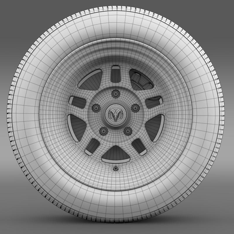 dodge challenger mopar wheel 3d model 3ds max fbx c4d lwo ma mb hrc xsi obj 212815