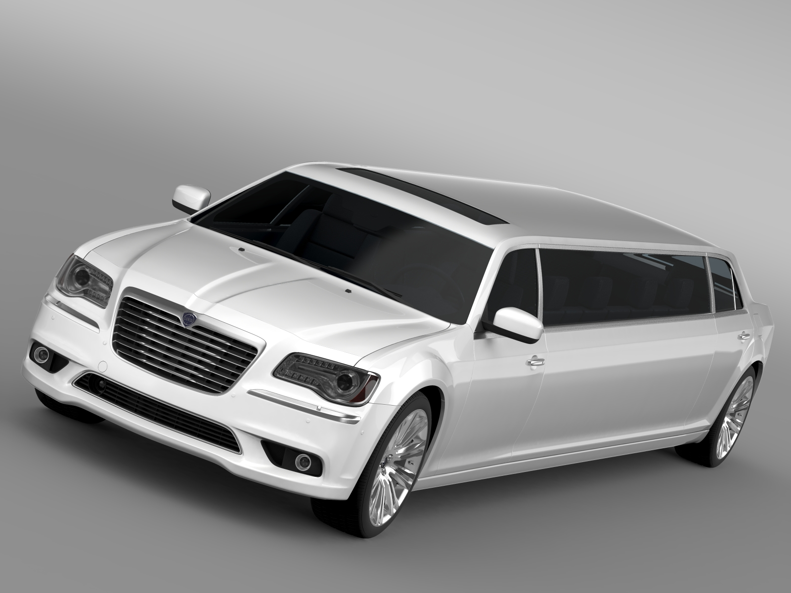 lancia thema limousine 3d model 3ds max fbx c4d lwo ma mb hrc xsi obj 212847