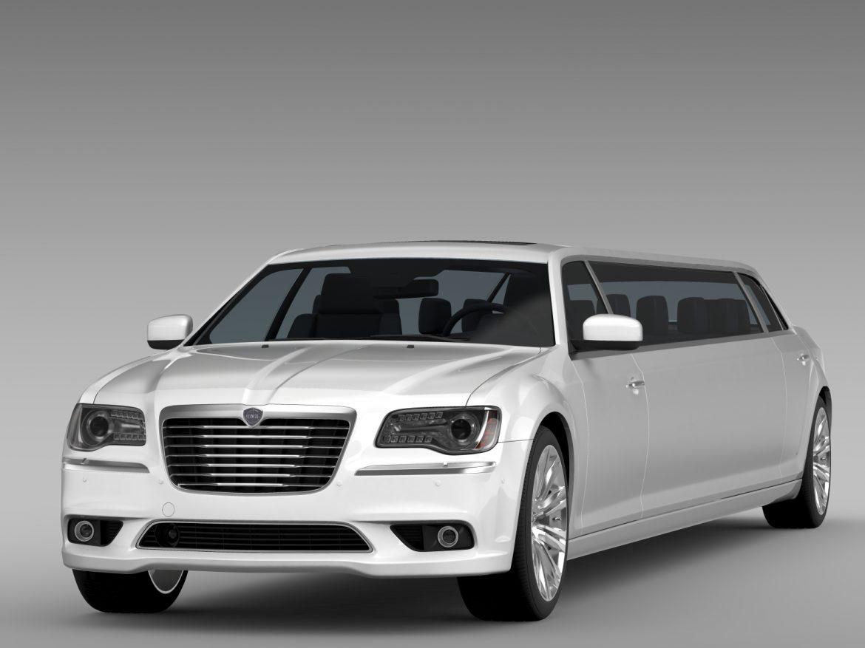 lancia thema limousine 3d model 3ds max fbx c4d lwo ma mb hrc xsi obj 212849