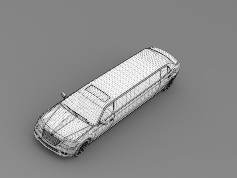 lancia thema limousine 3d model 3ds max fbx c4d lwo ma mb hrc xsi obj 212863