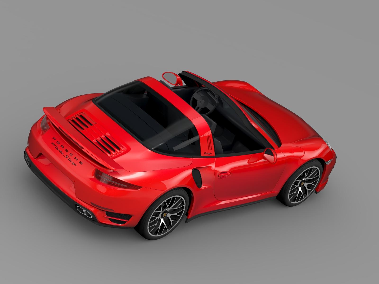 porsche 911 turbo s targa 991 2016 3d model flatpyramid. Black Bedroom Furniture Sets. Home Design Ideas