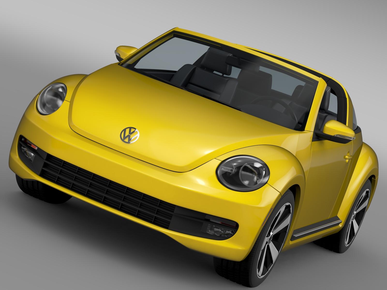 vw beetle targa 2016 3d model 3ds max fbx c4d lwo ma mb hrc xsi obj 212886
