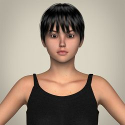Realistic Pretty Teen Girl 3d model 0