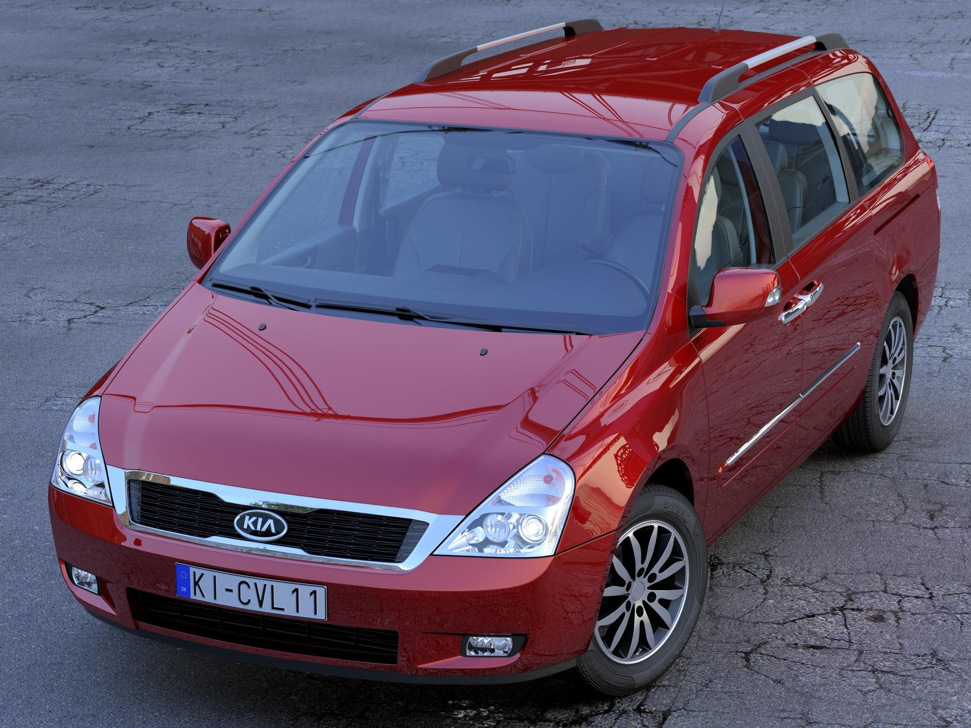 kia carnival 2011 3d model 3ds max fbx c4d obj 212935