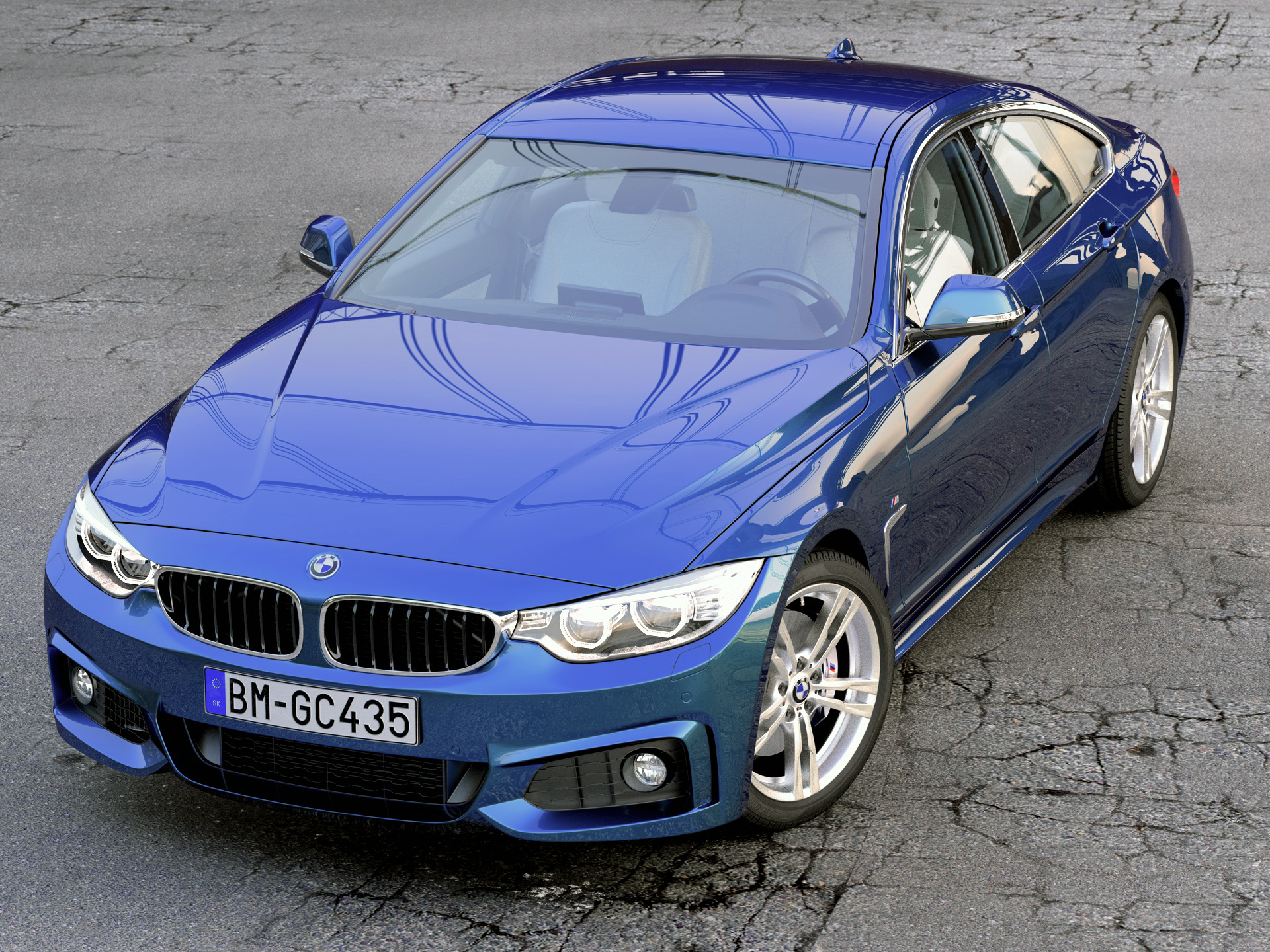 BMW 4 series F36 Gran Coupe 2015 3d model 3ds max fbx c4d obj 212948