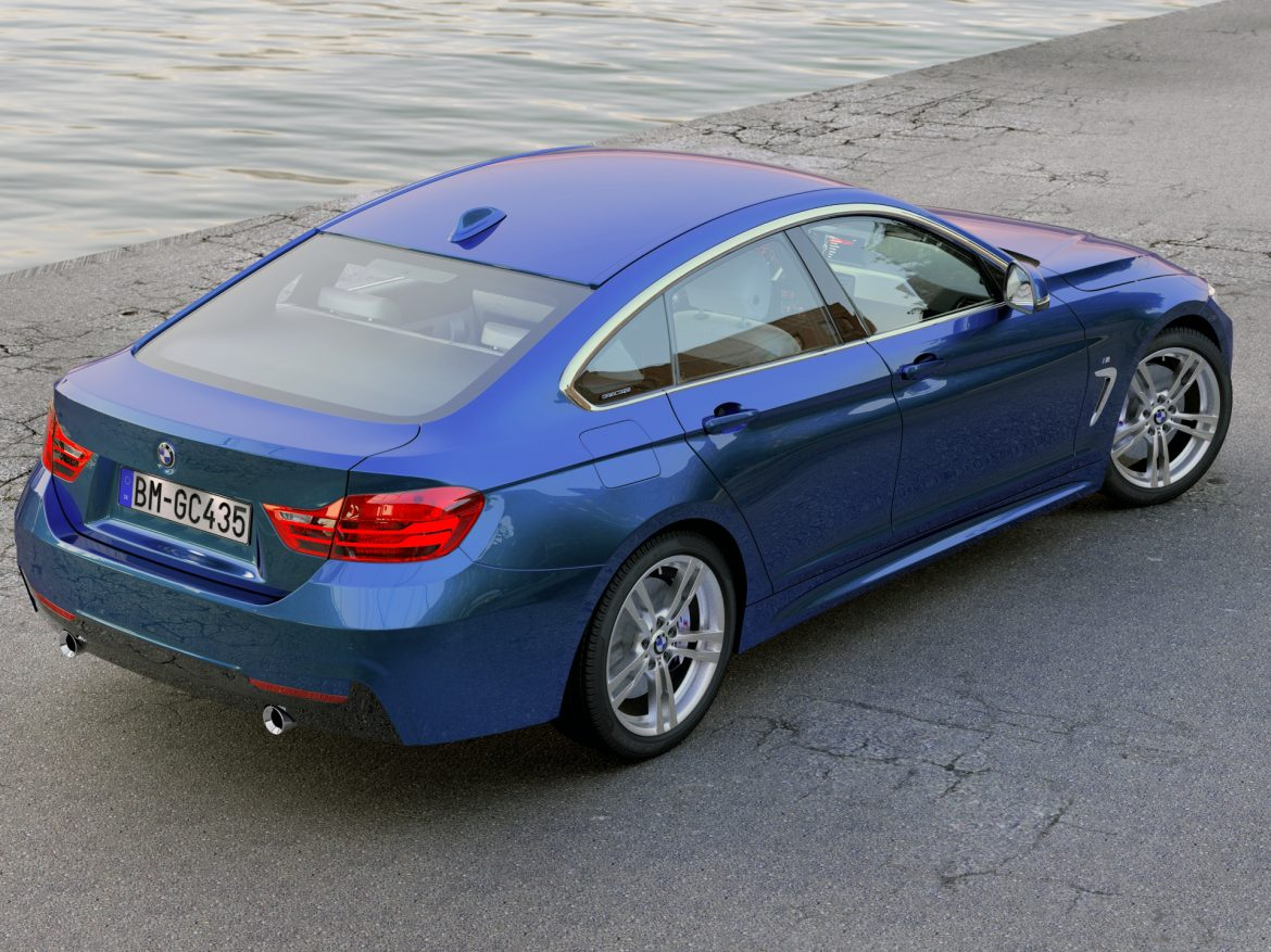 BMW 4 series F36 Gran Coupe 2015 3d model 0