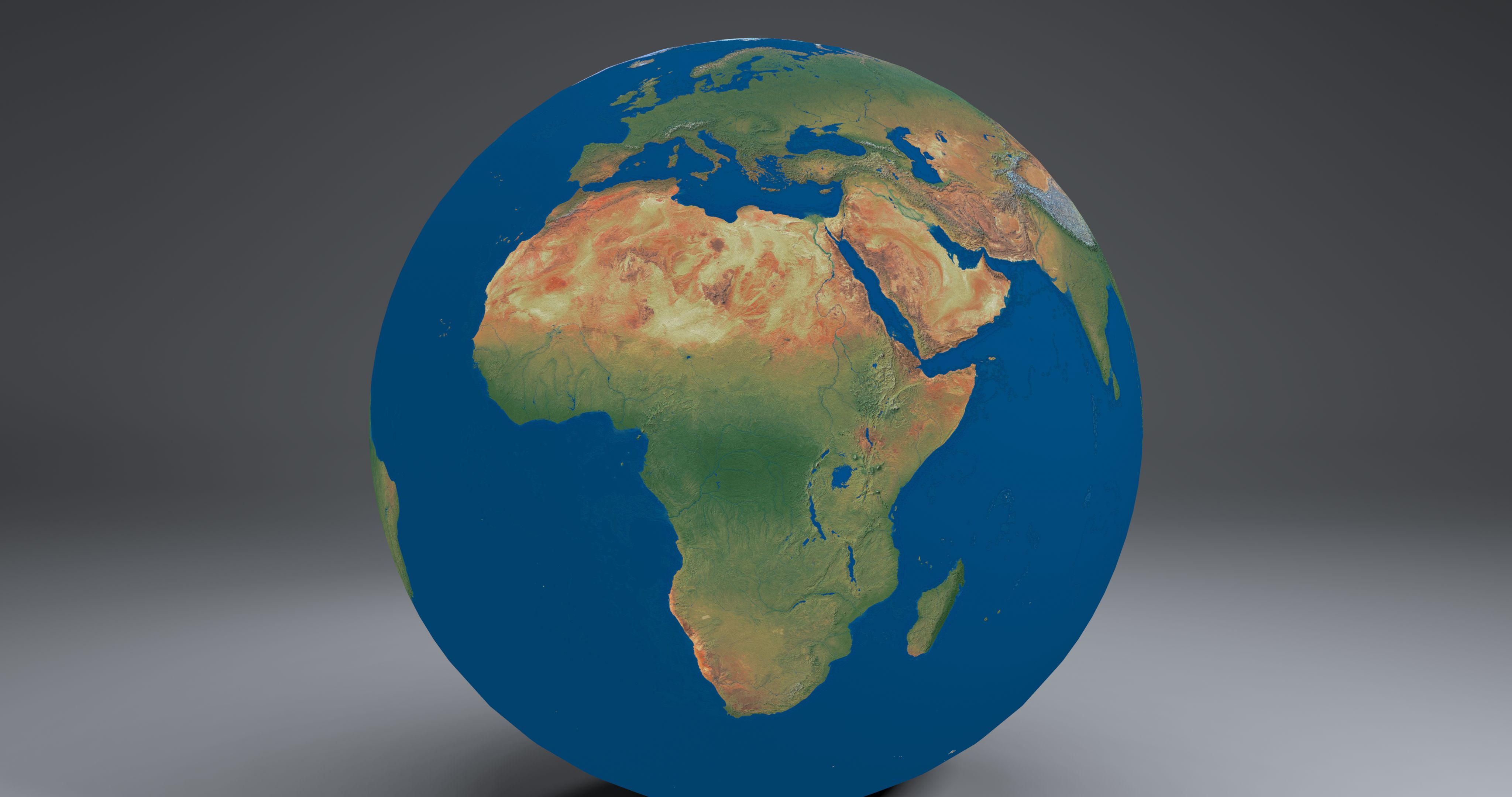 EarthGlobe16k 3d model 3ds fbx blend dae obj 212961
