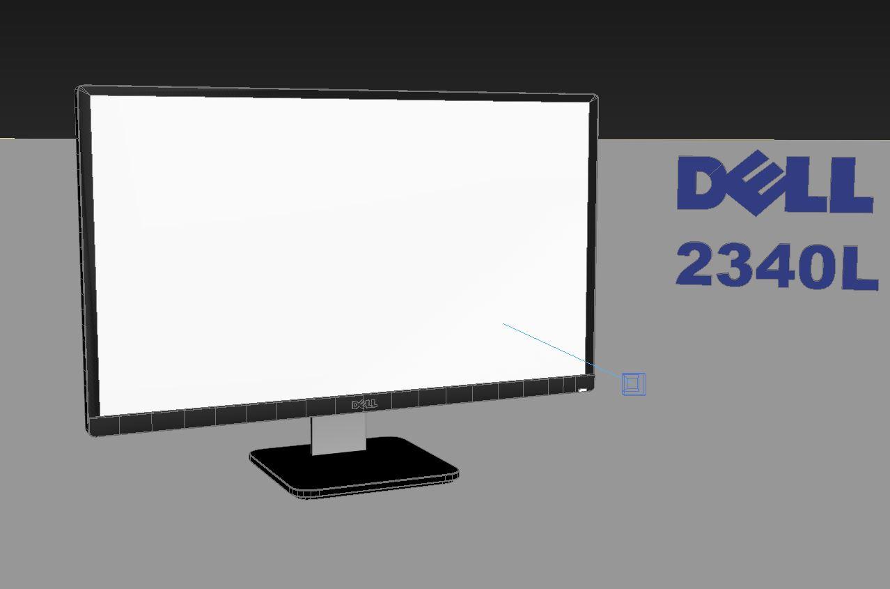 dell 2340l 3d model max 212975