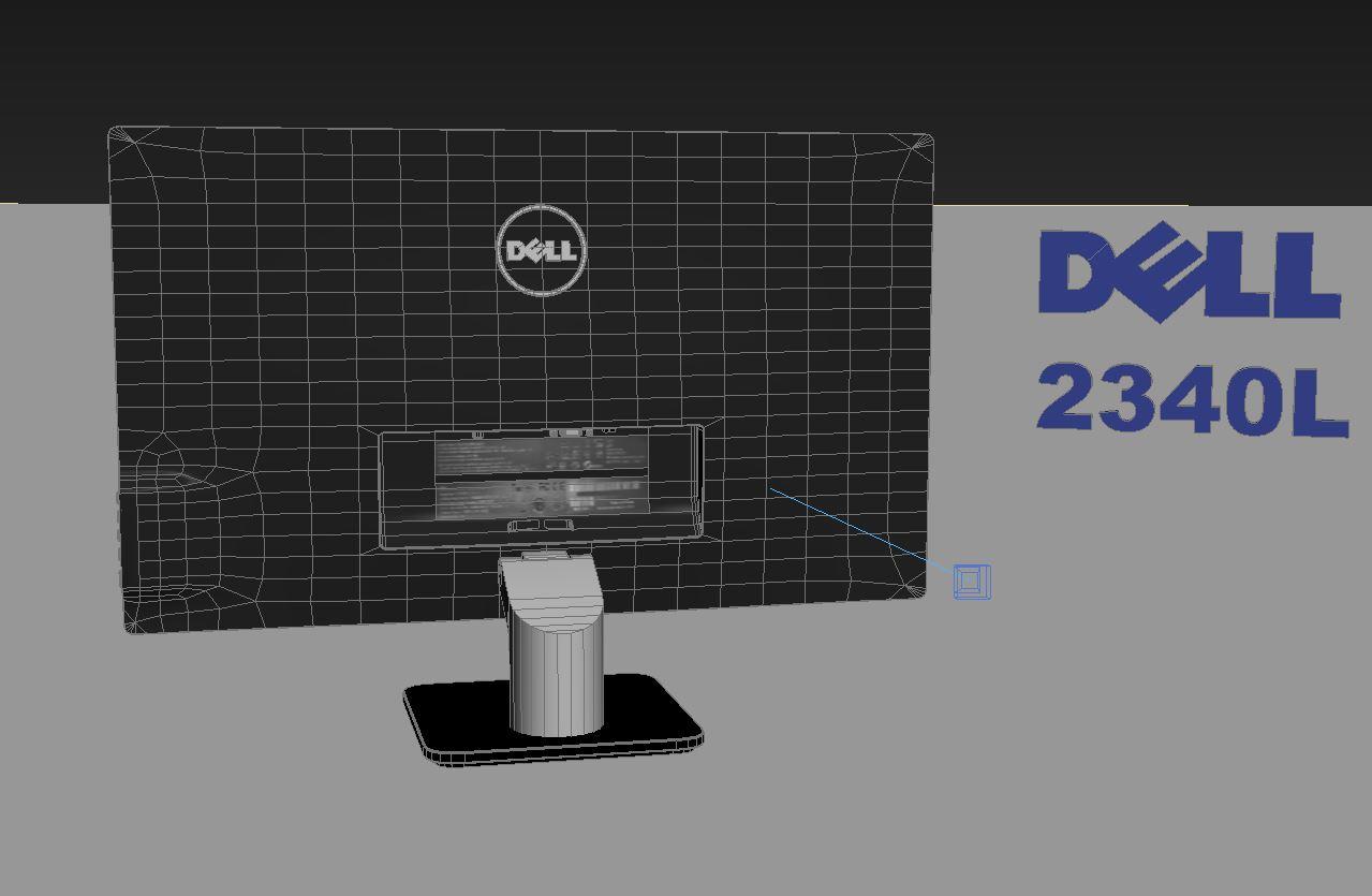 dell 2340l 3d model max 212976