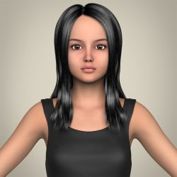 Realistic Beautiful Teenage Girl 3d model 0