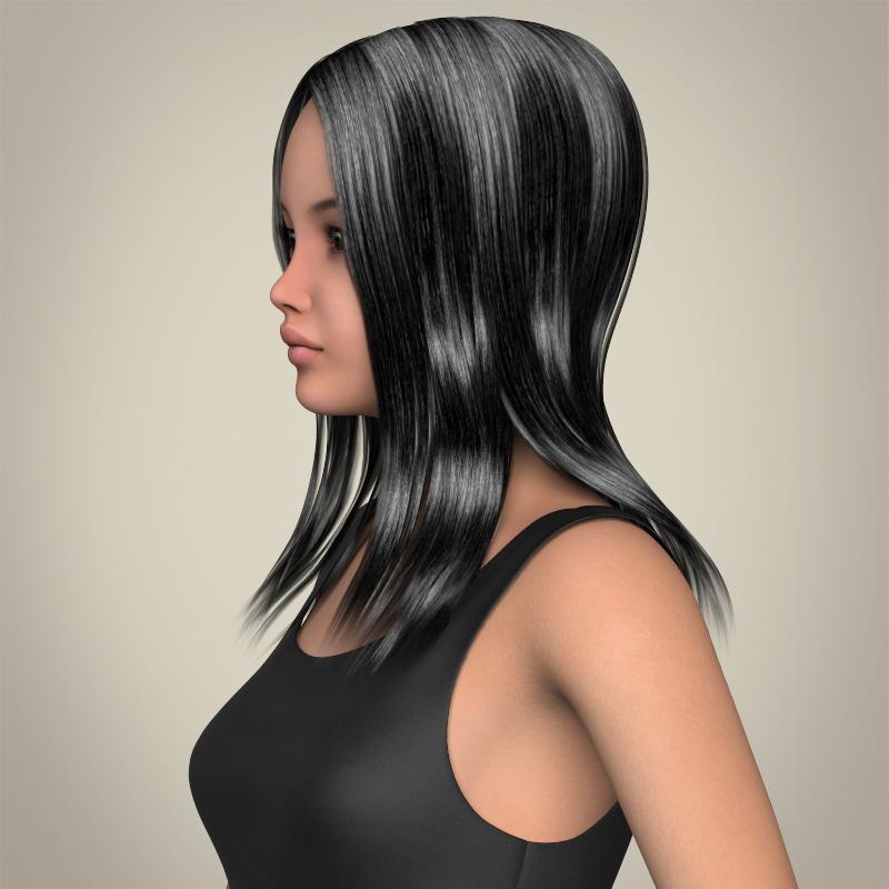 realistic beautiful teenage girl 3d model 3ds max fbx c4d lwo ma mb texture obj 213012