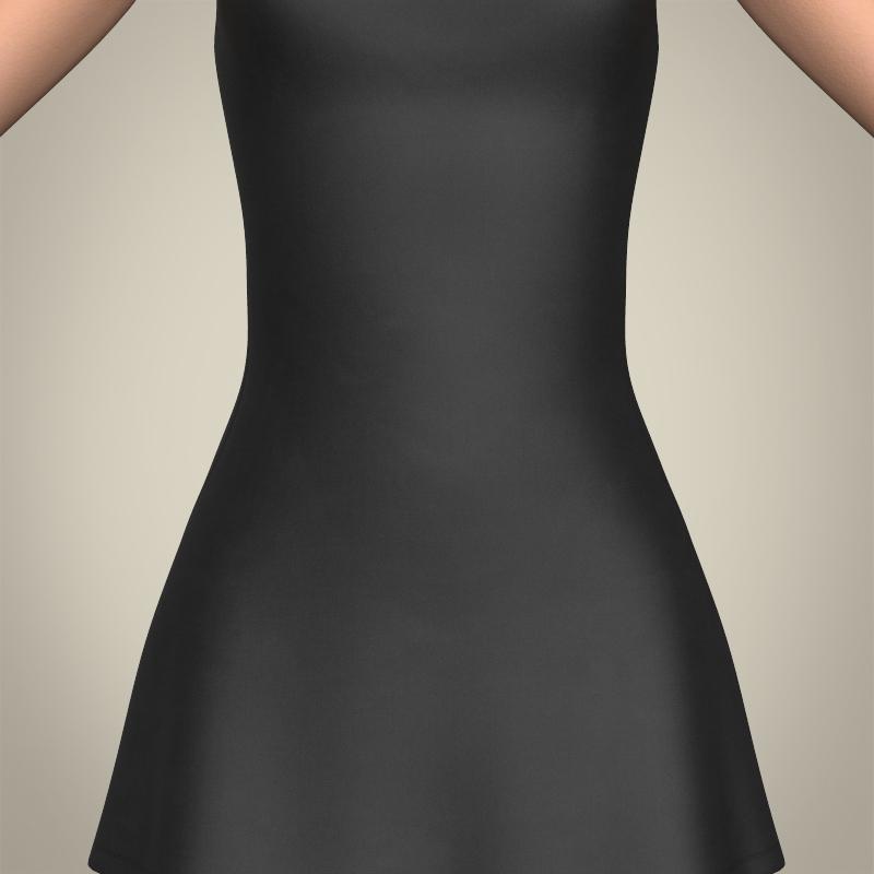 realistic beautiful teenage girl 3d model 3ds max fbx c4d lwo ma mb texture obj 213013