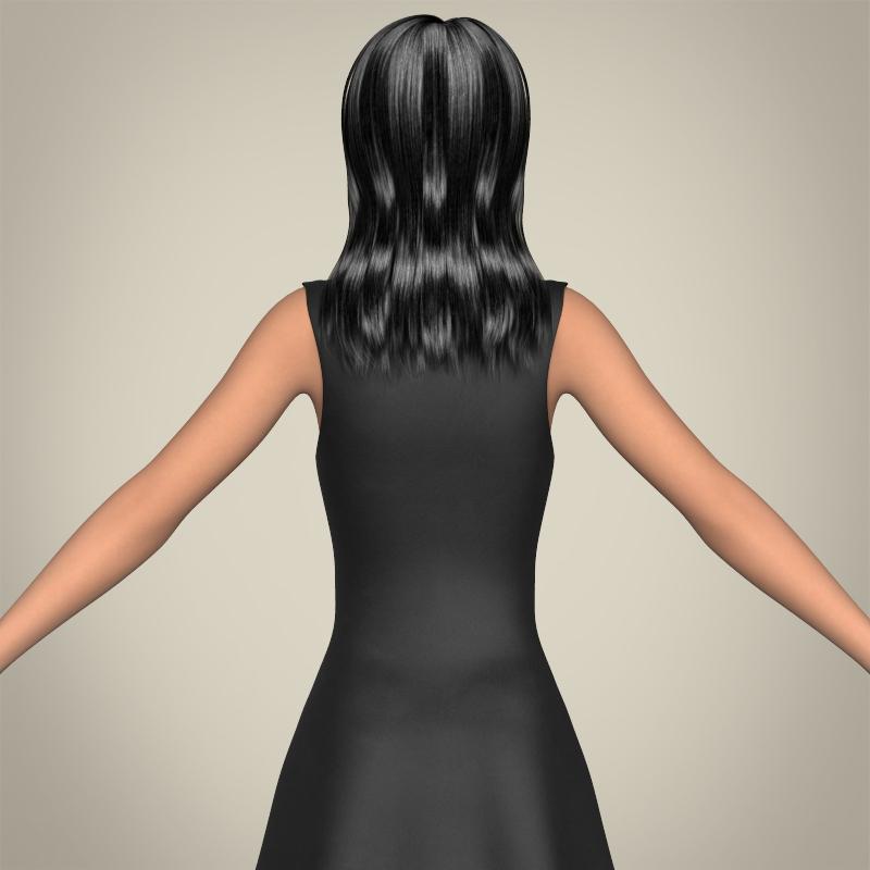 realistic beautiful teenage girl 3d model 3ds max fbx c4d lwo ma mb texture obj 213020