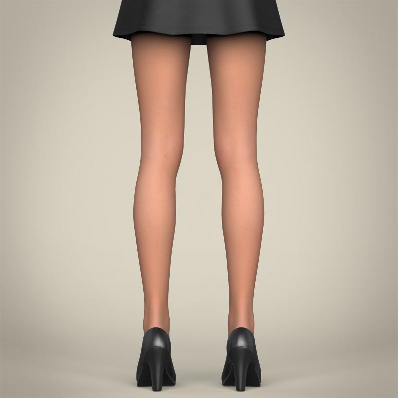 realistic beautiful teenage girl 3d model 3ds max fbx c4d lwo ma mb texture obj 213021