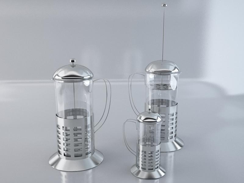 french teaglass 3d model max obj 213048