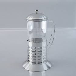 French Teaglass 3d model 0